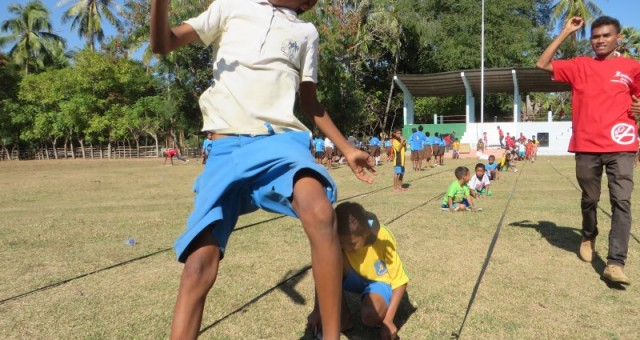 Press release – SportImpact event gathers hundreds of kids in Oekusse