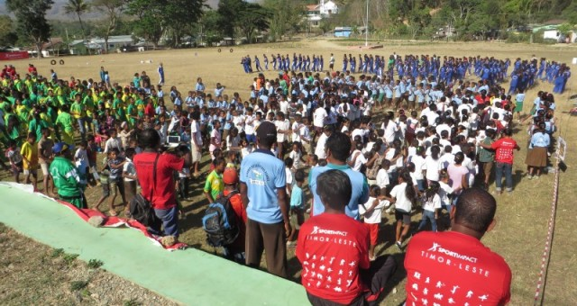 Press release – Over six hundred children gathered to play sports in Aileu