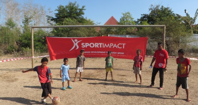 Press release – Over six hundred children gathered to play sports in Suai