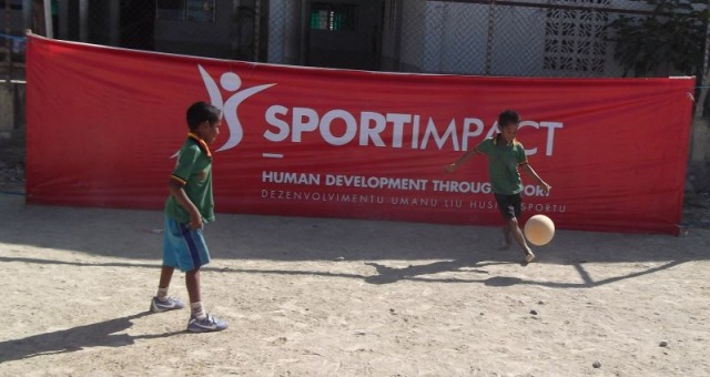 Press Release – Children Gathered To Play Sports In Viqueque