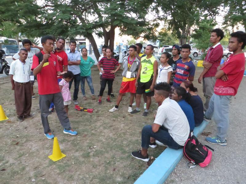 Day 3 - Kids Athletics practice with the Timor-Leste Athletics Federation