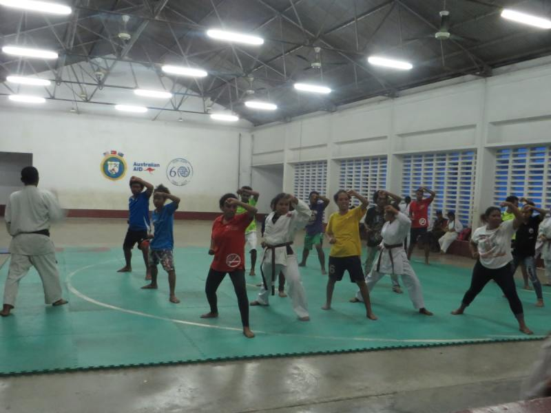 Day 5 - Karate practice with the Timor-Leste Karate Federation