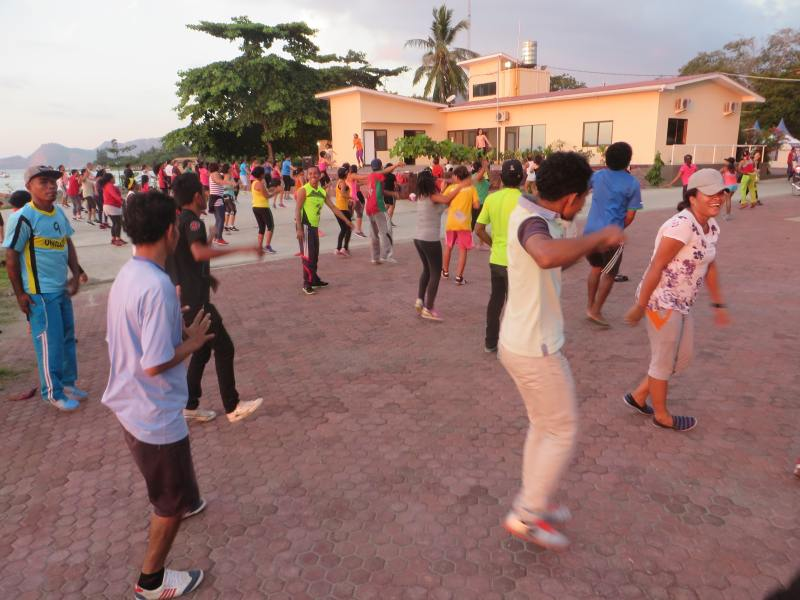 Day 7 - Zumba with Maryam at Policia Maritima