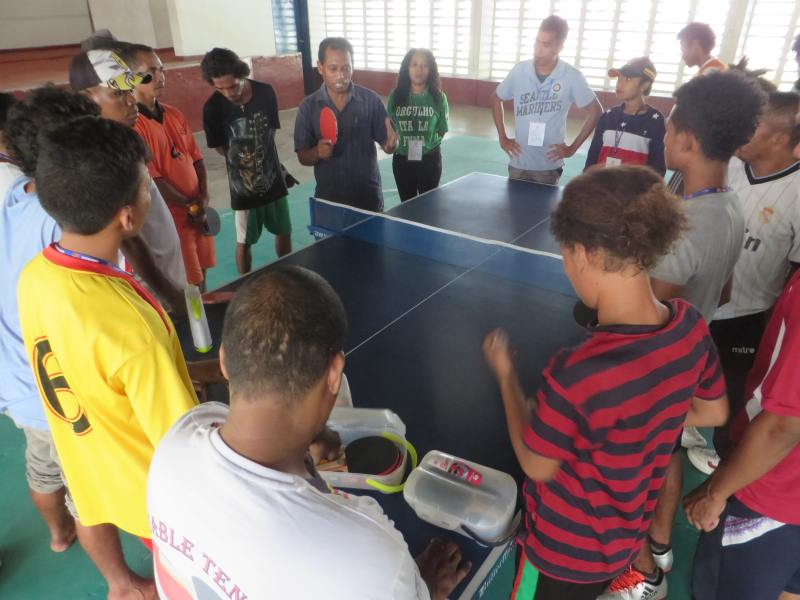 Day 9 - Table Tennis practice with the Timor-Leste Para-Table Tennis Federation